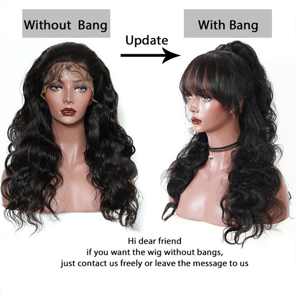 Body Wave with Bang 13x6 Lace Wig - 【PWH6502】 - pegasuswholesale
