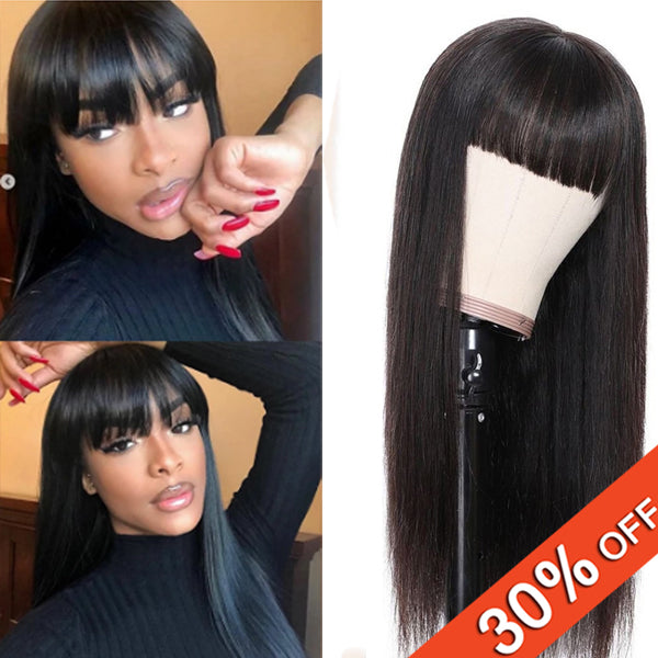 High Quality Full Machine Made Wigs Straight Human Hair - pegasuswholesale