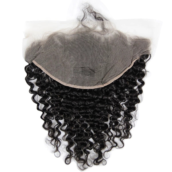 13X6 Transparent Lace Frontal With 2/3/4 Bundles Deep Wave Human Hair - pegasuswholesale