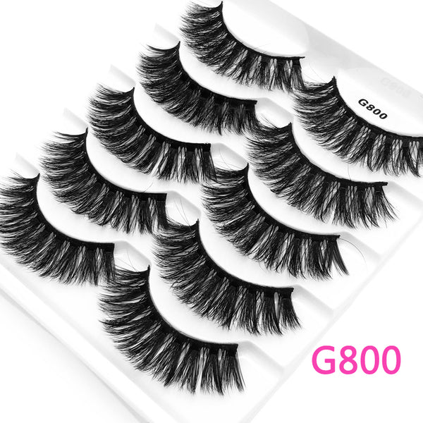 5Pairs 3D Mink False Eyelashes Natural/Thick Long 【PEGE07】 - pegasuswholesale