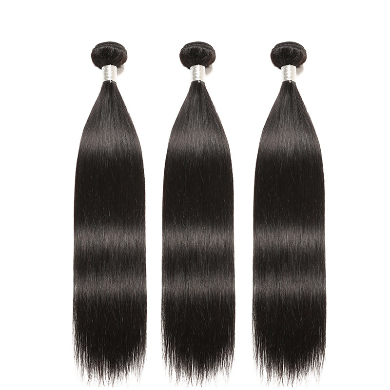 "3 Bundles With 4x4"" lace Closure Brazilian Hair Straight - pegasuswholesale"