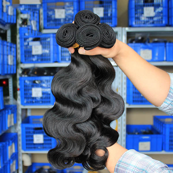 10a Body Wave 3/4 Bundles Brazilian Virgin Hair Weave - pegasuswholesale