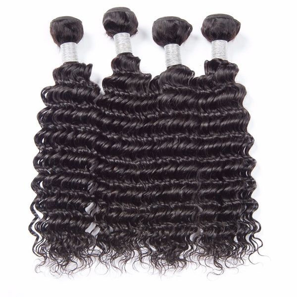 Deep Wave Brazilian Human Hair 3 Bundles - pegasuswholesale