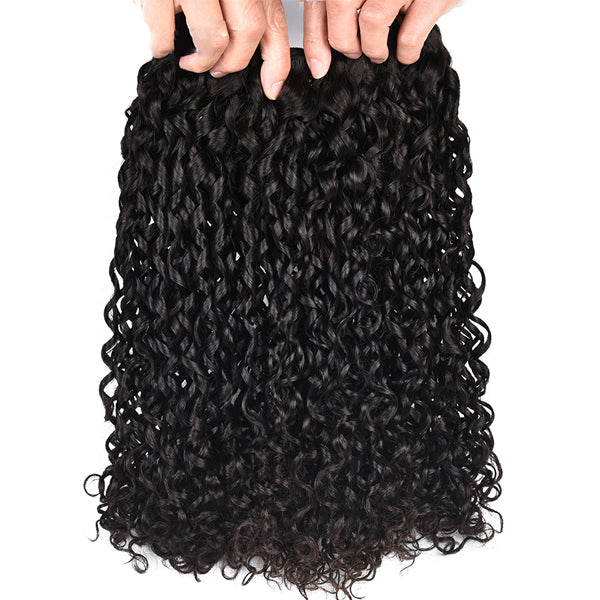 Double Drawn Bundles Virgin Hair Curly Indian Human Hair Extensions