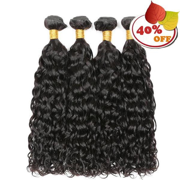 Water Wave 3/4 Bundles Deal Raw Indian Human Hair - pegasuswholesale
