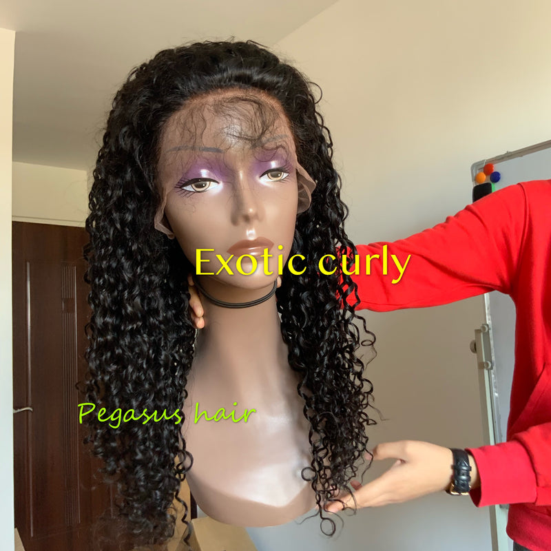 Exotic Curly Full Lace / Lace Front / 360 Lace Wig - pegasuswholesale