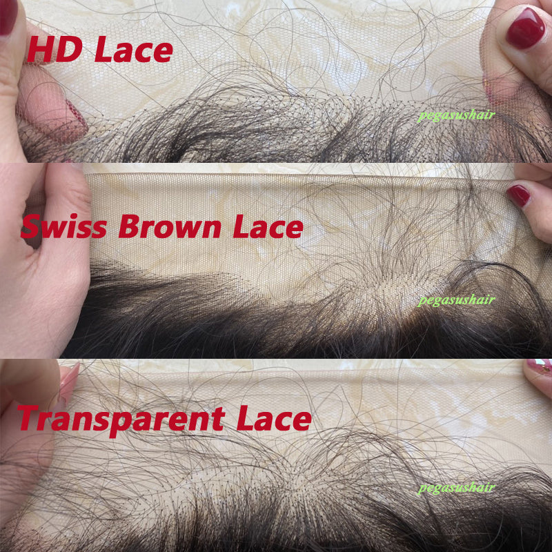 (HD Lace / Regular Lace) Frontal Wig Burmese curly Human Hair 【PWH6699】 - pegasuswholesale