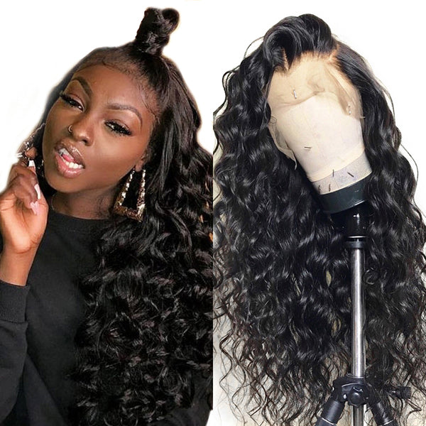 Loose Wave Lace Front Wig Brazilian Remy Human Hair Wigs With Baby Hair