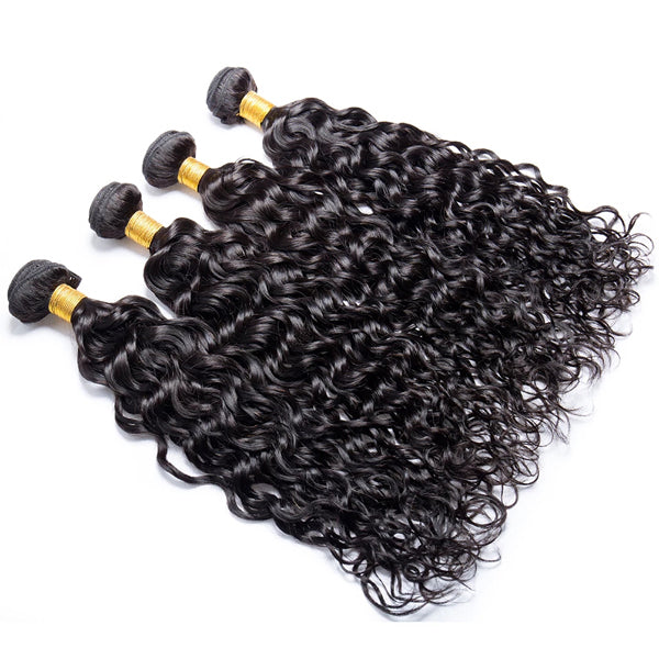 13X6 Transparent Lace Frontal With 2/3/4 Bundles Water Wave Human Hair - pegasuswholesale