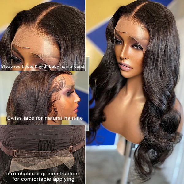 Body Wave Virgin Hair Wig (3 kinds Wig cap available) - pegasuswholesale