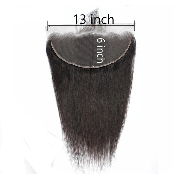 13x6 Transparent Lace Frontal Ear to Ear Brazilian Straight Hair - pegasuswholesale