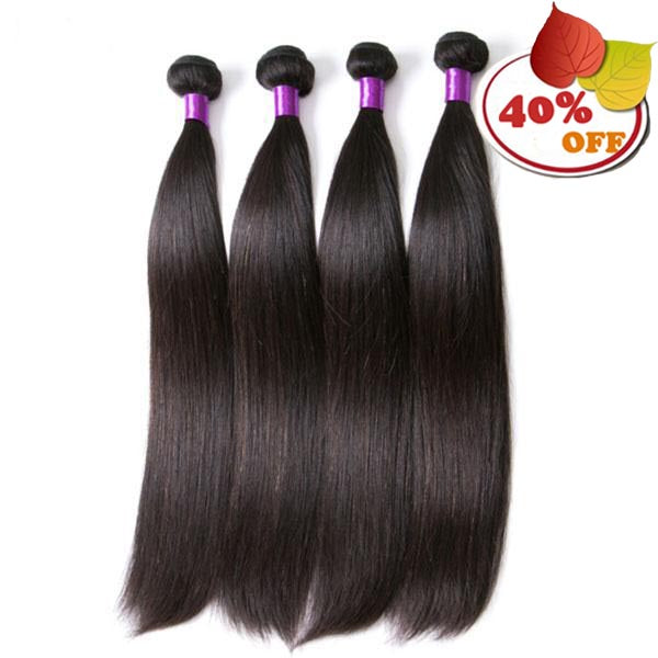 Brazilian Straight Hair Extension 8-30 Inch Natural Color 4 Pieces - pegasuswholesale