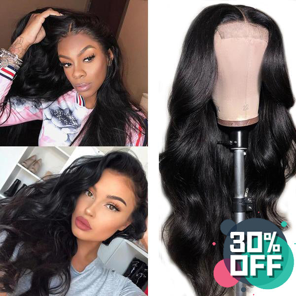 4x4 Lace Closure Wigs  Body Wave 180% 150% Density Brazilian Hair - pegasuswholesale