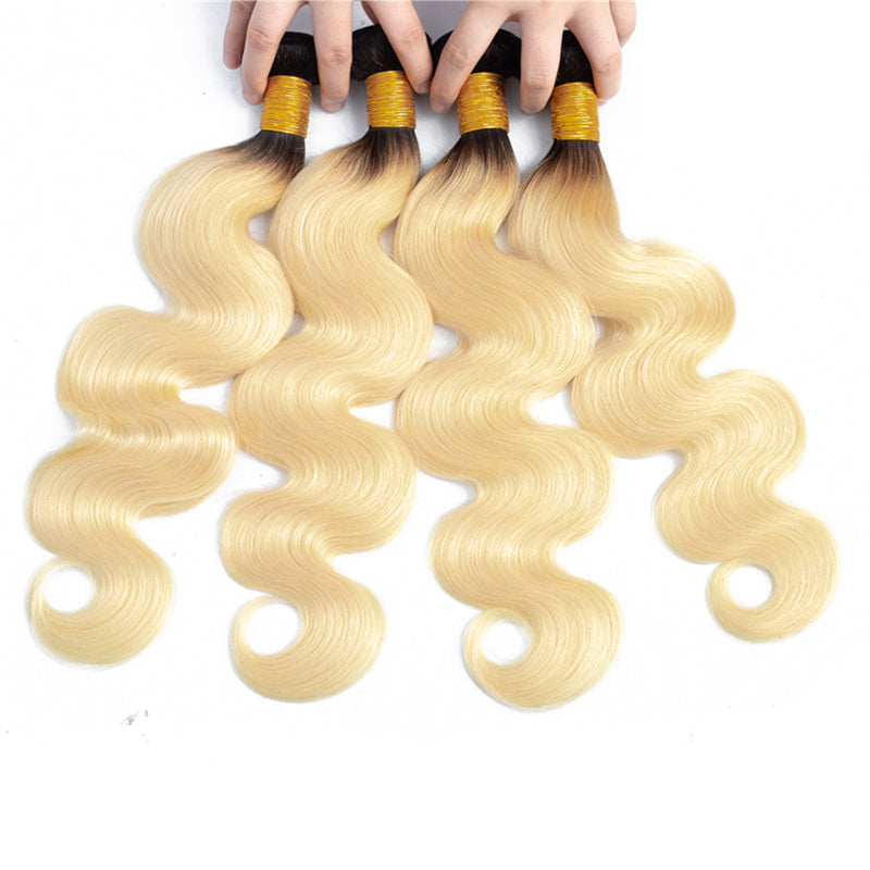 1B 613 Bundles with Frontal Brazilian Body Wave Human Hair - pegasuswholesale