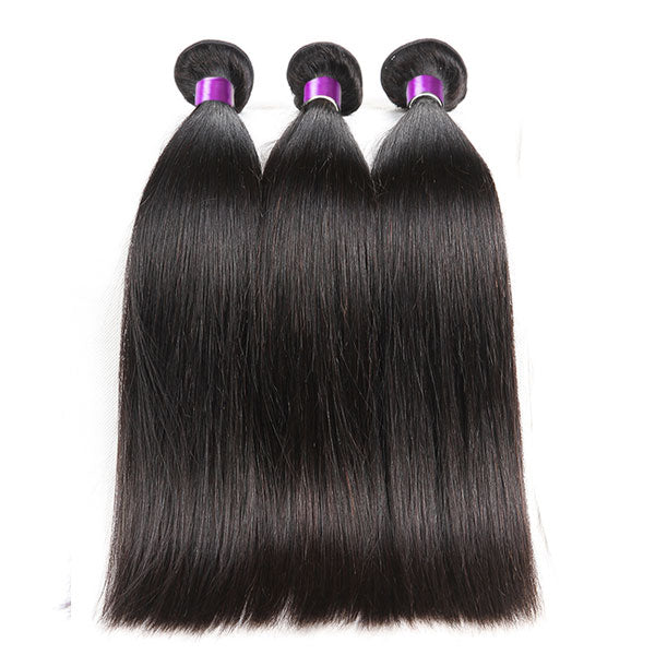 1 Bundle 8A Straight 100% Human Hair Bundles Natural Color - pegasuswholesale