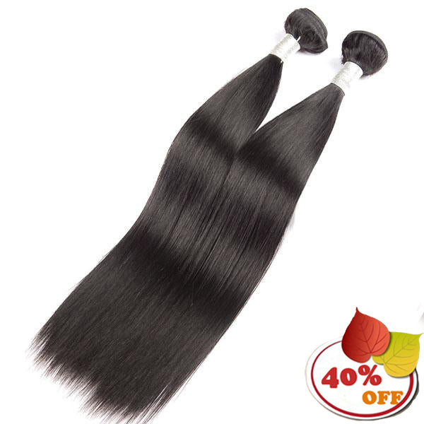 2 Bundles Indian Straight Hair Bundles 100% Human Hair Remy Hair Extensions - pegasuswholesale