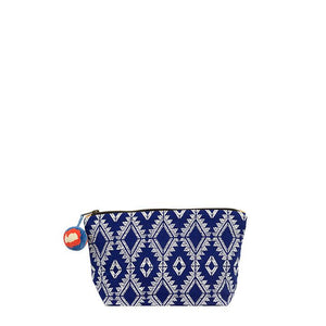 Mercado Ultramarine Brocade Cosmetic Pouch