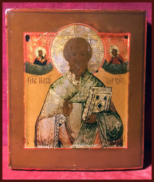 antique russian icon st nicholas of myra
