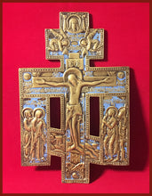 Load image into Gallery viewer, Authentic antique metal icon of the Holy Cross