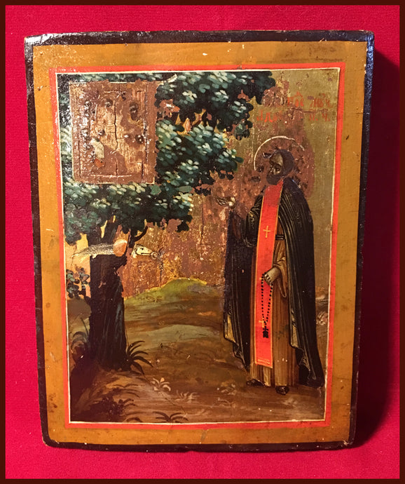 St. Adrian Poshehonsky antique Russian Icon