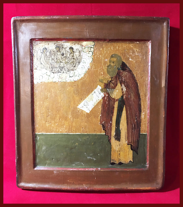 st Sergius antique russian icon