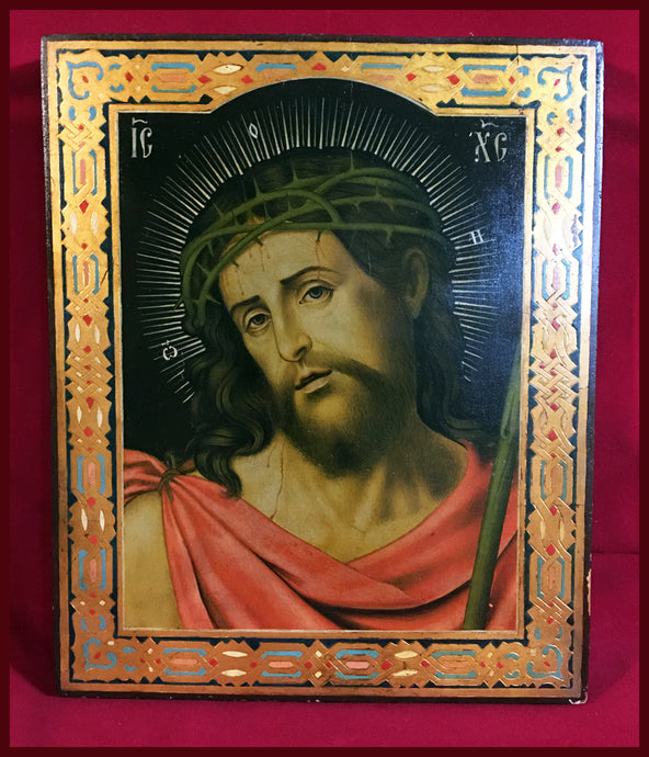 christ the bridegroom antique russian icon