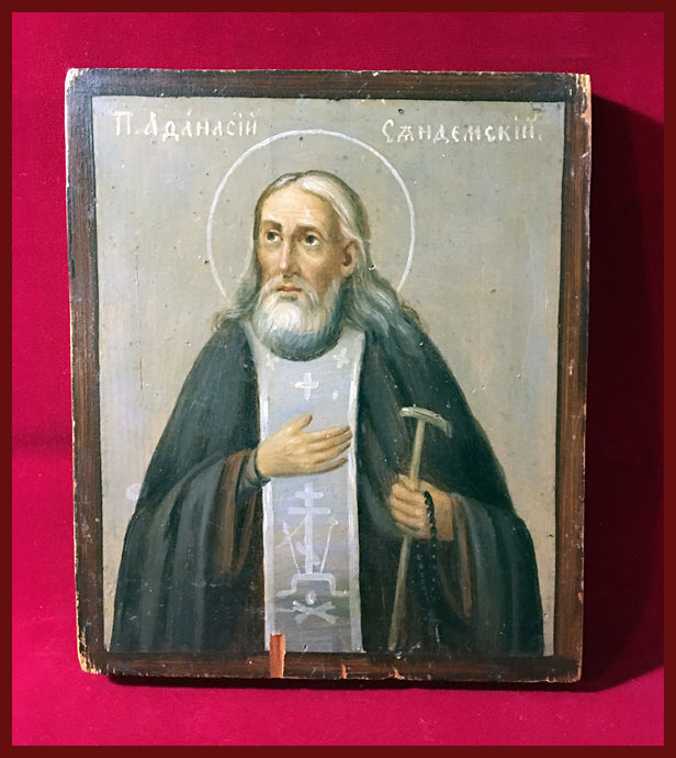 St. Athanasius of Valaam (Syandem) antique icon
