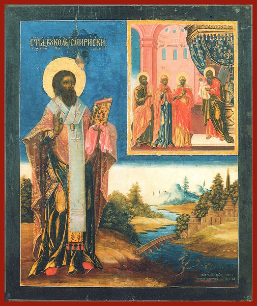 St. Vukol Bishop of Smyrna Orthodox Icon