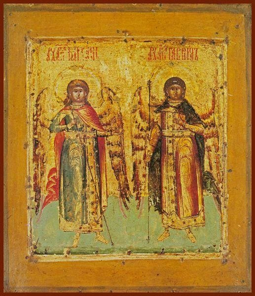 Archangels Michael And Gabriel - Icons