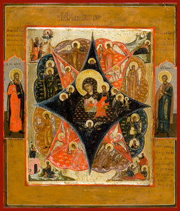 "Mother of God ""Burning Bush"" Orthodox Icon"