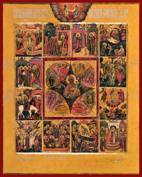 burning bush orthodox icons