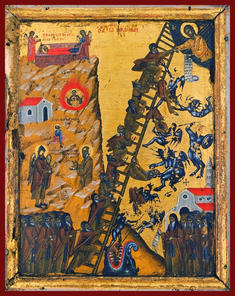 The Ladder of Divine Ascent Orthodox Icon
