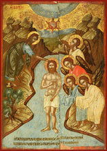 "Load image into Gallery viewer, Baptism of Christ ""Theophany"" Orthodox icon"