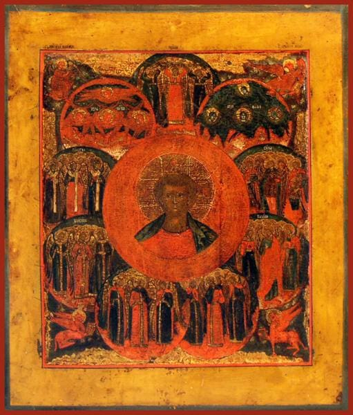 Christ Emmanuel With The Nine Ranks Of Angels - Icons