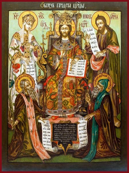 Christ Enthroned With Deisis - Icons