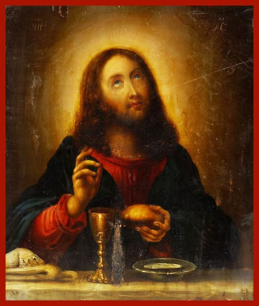 Christ Mystical Supper - Icons