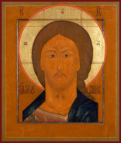 christ fiery eye orthodox icon