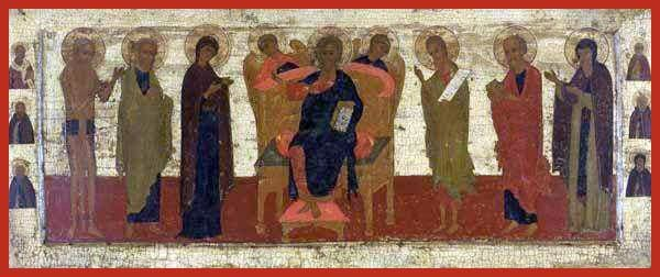 Deisis With Christ Enthroned - Icons