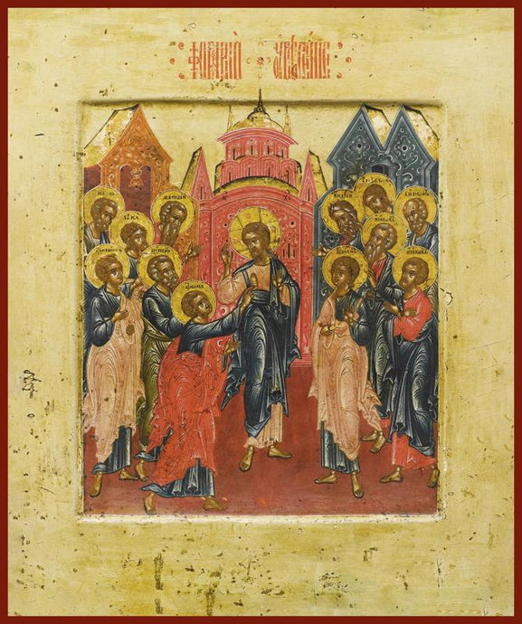 doubting of St. Thomas the Apostle orthodox icon
