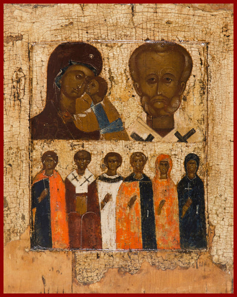 Selected Saints : Two Register Orthodox Icon