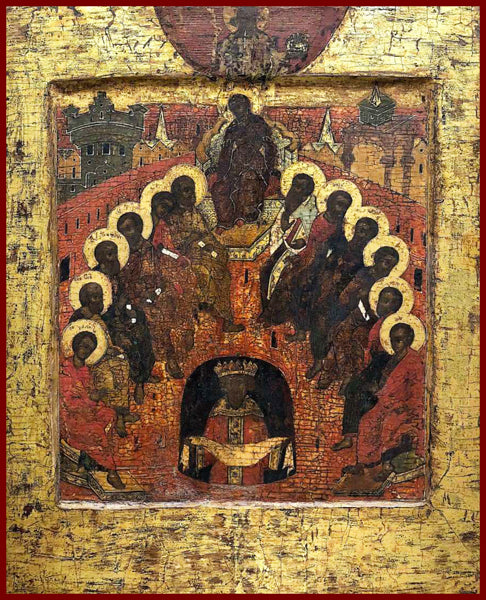 The Descent of the Holy Spirit Pentacost Orthodox icon