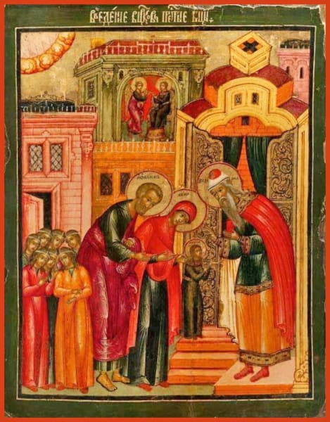 Entry Of The Mother Of God Into The Temple - Icons
