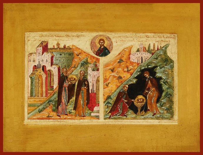 The First and Second Finding of the Head of St. John the Forerunner orthodox icon