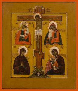 Four Part With Crucifixion - Icons