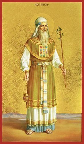 orthodox icon holy forefather aaron