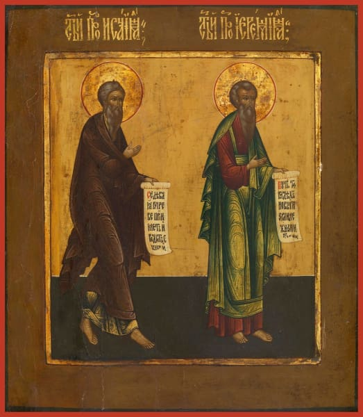 Holy Prophets Isaiah And Jeremiah - Icons