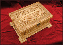 Load image into Gallery viewer, carved wood relic box orthodox