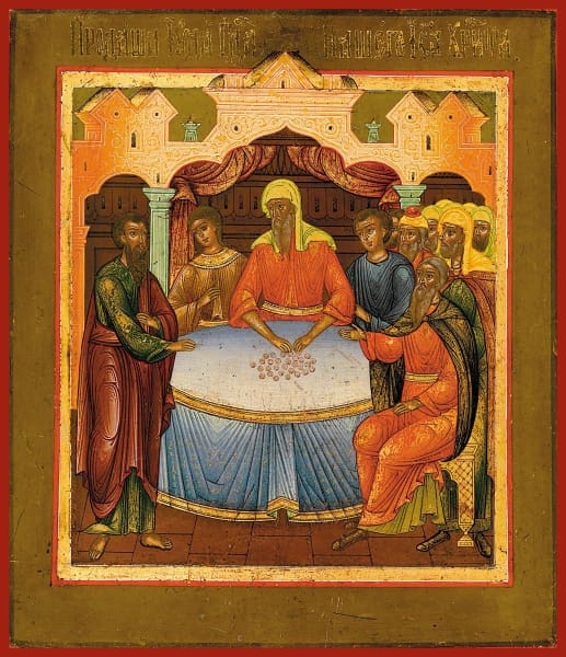 Judas Receiving Money - Icons