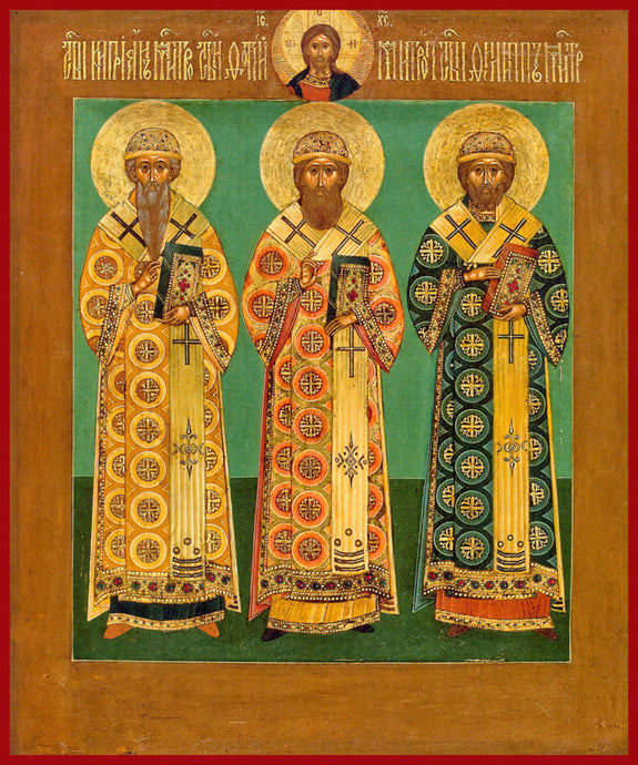 Sts. Cyprian, Photius and Phillip Russian Icon