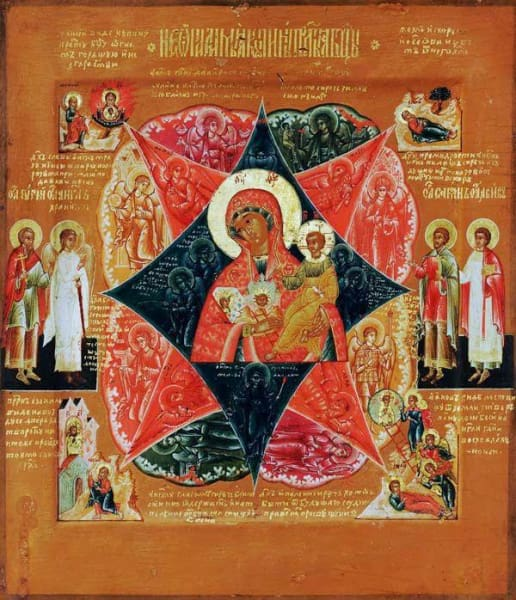 Mother Of God Burning Bush - Icons